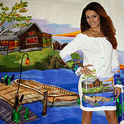 """Одежда ручной работы. Ярмарка Мастеров - ручная работа Платье """"Дом у пруда"""". Handmade."""