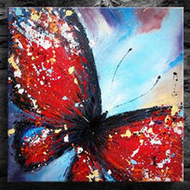 """Картины и панно ручной работы. Ярмарка Мастеров - ручная работа Картина масло холст """"Бабочка"""" картина маслом. Handmade."""