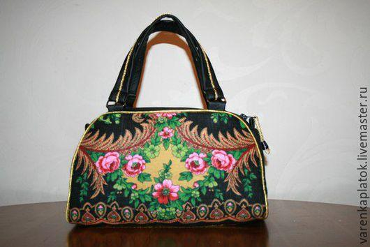 Женские сумки ручной работы. Ярмарка Мастеров - ручная работа. Купить Сумка дамская. Handmade. Комбинированный, цветочный, Кожаная сумка