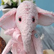 Куклы и игрушки ручной работы. Ярмарка Мастеров - ручная работа Розовый слоник Паулина. Handmade.
