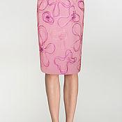 Одежда handmade. Livemaster - original item skirt silk for lining with embroidery. Handmade.