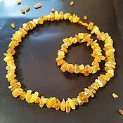 handmade. Livemaster - original item Set of Healing beads made of Baltic amber bracelet unpolished, light. Handmade.
