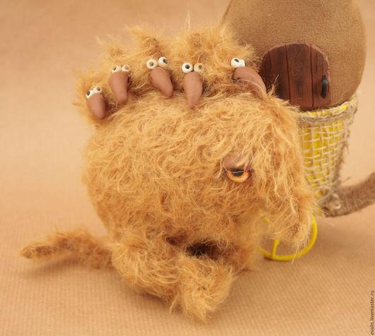 Мишки Тедди ручной работы. Ярмарка Мастеров - ручная работа. Купить Время Года - Весна (Веня). Handmade. Оранжевый, чудище