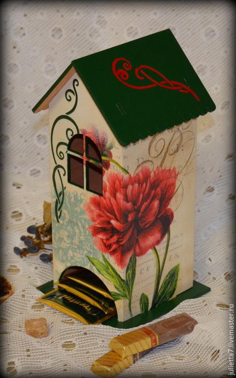 """Кухня ручной работы. Ярмарка Мастеров - ручная работа. Купить Чайный домик """"В саду распустился пион..."""". Handmade."""