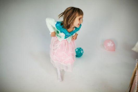 """Одежда для девочек, ручной работы. Ярмарка Мастеров - ручная работа. Купить Юбочка """"Конфетка"""". Handmade. Бледно-розовый, подарок, бусины"""