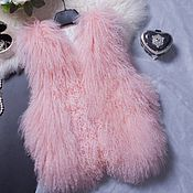 Одежда handmade. Livemaster - original item vest fur. Vest from Lama. The vest is from Lama. Lama. Action.. Handmade.