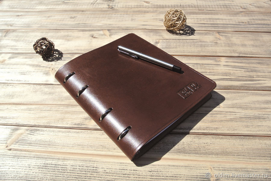 Personal notebook of leather A5 format, Notebooks, Moscow,  Фото №1