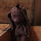 Куклы и игрушки ручной работы. Ярмарка Мастеров - ручная работа Кролик тедди-примитив Иоганн. Handmade.