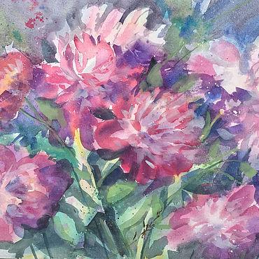 Картины и панно ручной работы. Ярмарка Мастеров - ручная работа Розовые пионы. Handmade.