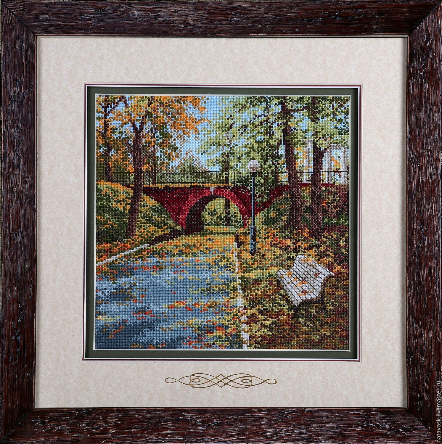 Cross stitch A Bridge for Lovers, Pictures, Rostov-on-Don,  Фото №1