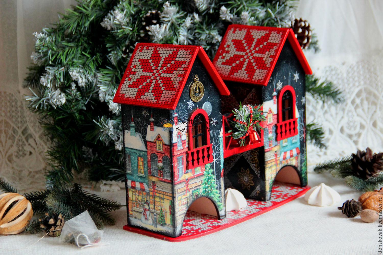 может успешно новогодний домик картинка декупаж даргиял