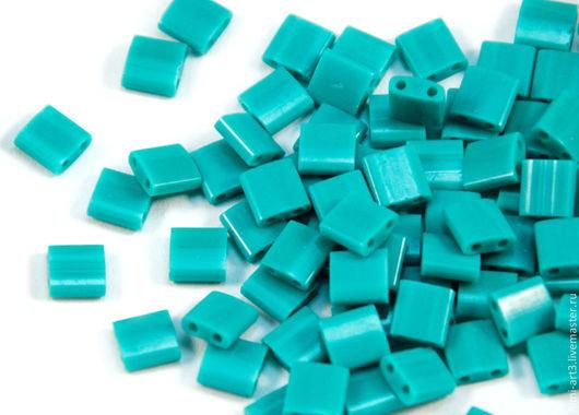 Для украшений ручной работы. Ярмарка Мастеров - ручная работа. Купить Tila 412 Turquoise green Бирюзовый Японский бисер Тила фирмы Миюки 5гр. Handmade.