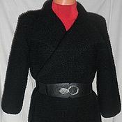Одежда ручной работы. Ярмарка Мастеров - ручная работа Пальто (кардиган) спицами платочным вязанием. Handmade.