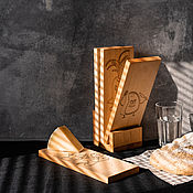 handmade. Livemaster - original item Cutting boards made of Siberian cedar 4 pcs. on a stand RDN6. Handmade.