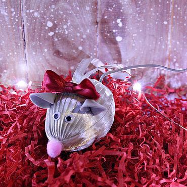 Сувениры и подарки ручной работы. Ярмарка Мастеров - ручная работа Елочное украшение Мышка. Handmade.