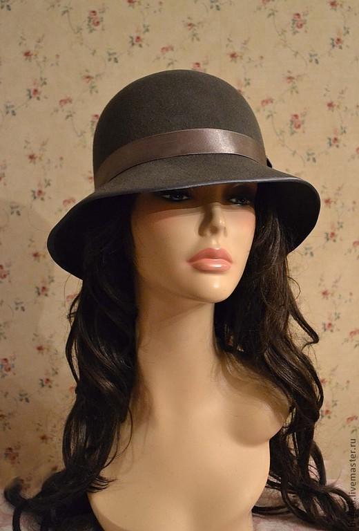 Шляпы ручной работы. Ярмарка Мастеров - ручная работа. Купить Шляпа Классика темно серый. Handmade. Темно-серый