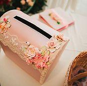 Свадебный салон ручной работы. Ярмарка Мастеров - ручная работа Денежный сундучок в розовом цвете. Handmade.