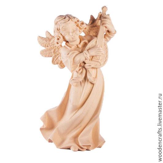 Статуэтки ручной работы. Ярмарка Мастеров - ручная работа. Купить Ангел с мандолиной. Handmade. Бежевый, экодизайн, игра, ангел