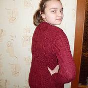 Одежда ручной работы. Ярмарка Мастеров - ручная работа вязаный свитер с аранами. Handmade.