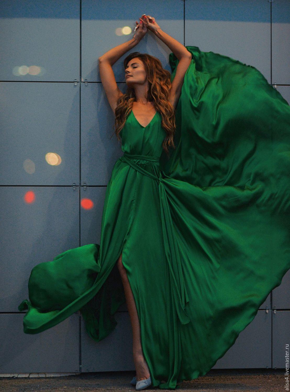 Платья ручной работы. Ярмарка Мастеров - ручная работа. Купить Кира - зеленое платье. Handmade. Зеленый, летнее платье