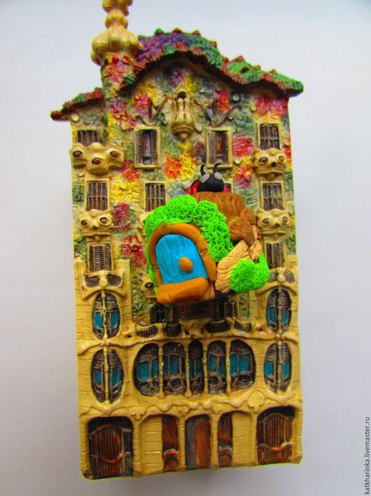 Статуэтки ручной работы. Ярмарка Мастеров - ручная работа. Купить Сказочный домик-пенек. Handmade. Зеленый, пенек, статуэтка, грибок