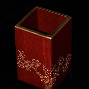 Pencil holders handmade. Livemaster - original item Pencil in Japanese style Sakura. Before the dawn. Handmade.