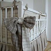 Для дома и интерьера ручной работы. Ярмарка Мастеров - ручная работа Набор постельного белья для детской кроватки. Handmade.