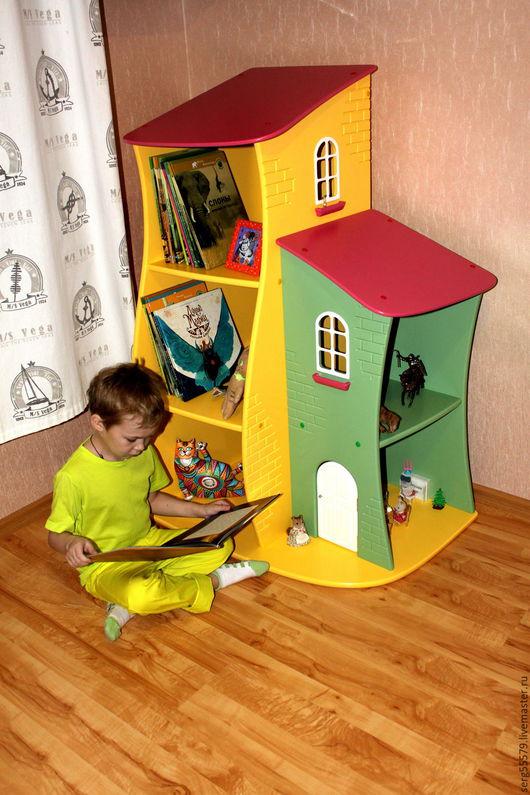 Детская ручной работы. Ярмарка Мастеров - ручная работа. Купить Угловой стеллаж-домик. Handmade. Комбинированный, интерьер детской комнаты