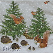 Материалы для творчества handmade. Livemaster - original item 2pcs napkins to decoupage winter tale. Handmade.