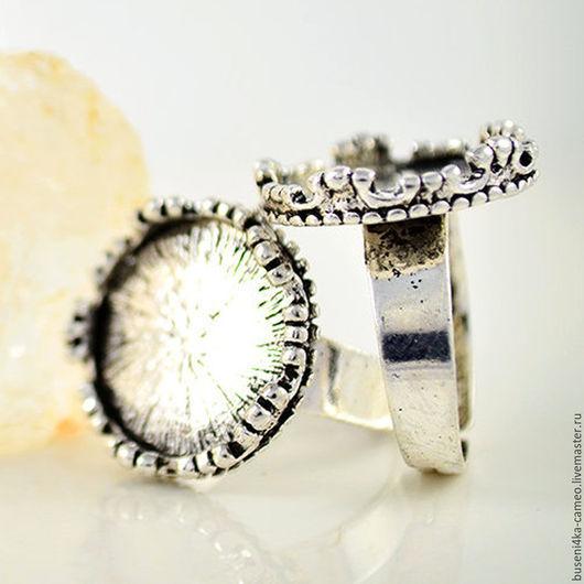 Для украшений ручной работы. Ярмарка Мастеров - ручная работа. Купить Основа для кольца Корона 16мм, античное серебро. Handmade.