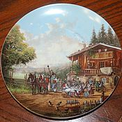 Винтаж handmade. Livemaster - original item Decorative plate