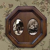Сувениры и подарки ручной работы. Ярмарка Мастеров - ручная работа Фоторамка под старину Рамки для фото деревянные. Handmade.