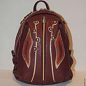 Backpacks handmade. Livemaster - original item Burgundy leather backpack Yagodka. Handmade.