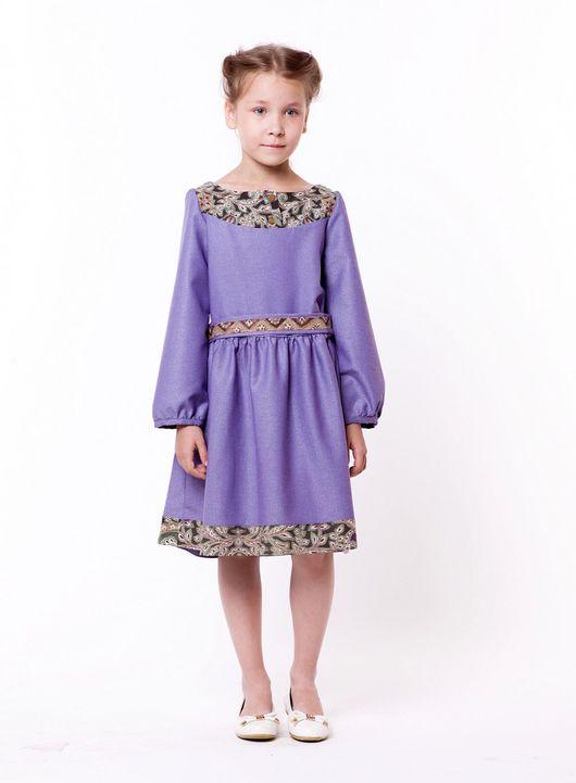 Платья ручной работы. Ярмарка Мастеров - ручная работа. Купить Платье для девочки с орнаментом. Handmade. Орнамент, дизайнерская одежда, комфорт