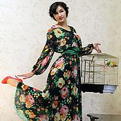 Одежда ручной работы. Ярмарка Мастеров - ручная работа Платье ПИОНЫ. Handmade.