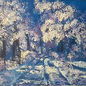 Картины и панно handmade. Livemaster - original item oil painting winter 40/50
