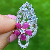 Украшения handmade. Livemaster - original item Silver ring with natural rubies