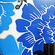 """Зеркала ручной работы. """"Букет с синей хризантемой"""". Алиса * alisausi * Подболотова. Ярмарка Мастеров. Цветочный рисунок, цветы"""