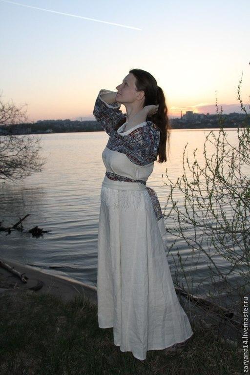Платья ручной работы. Ярмарка Мастеров - ручная работа. Купить Платье из Вашего  павло-посадского платка. Handmade. Бежевый
