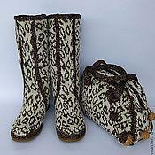 Обувь ручной работы handmade. Livemaster - original item Leopard print set. Handmade.