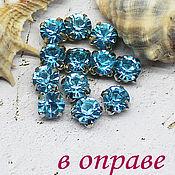 Материалы для творчества handmade. Livemaster - original item Rhinestones 6 mm aquamarine. Handmade.