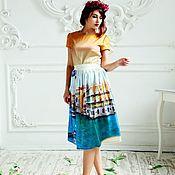 Одежда ручной работы. Ярмарка Мастеров - ручная работа Шелковое платье миди. Handmade.