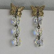 Украшения handmade. Livemaster - original item Earrings with Swarovski crystals Metamorphosis. Handmade.