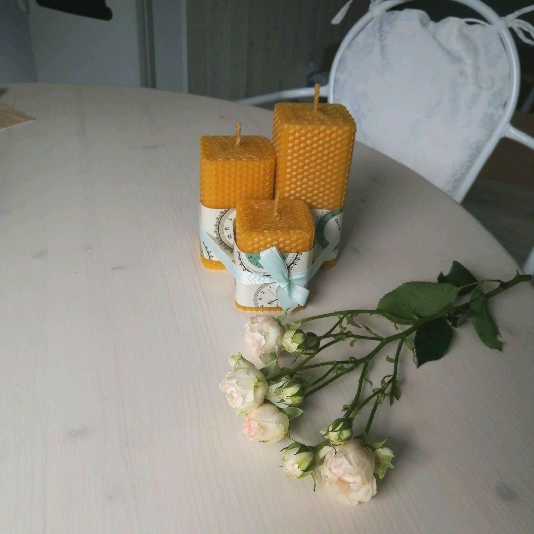 Свечи ручной работы. Ярмарка Мастеров - ручная работа. Купить Набор свечей из вощины. Handmade. Необычный подарок, свечи из воска