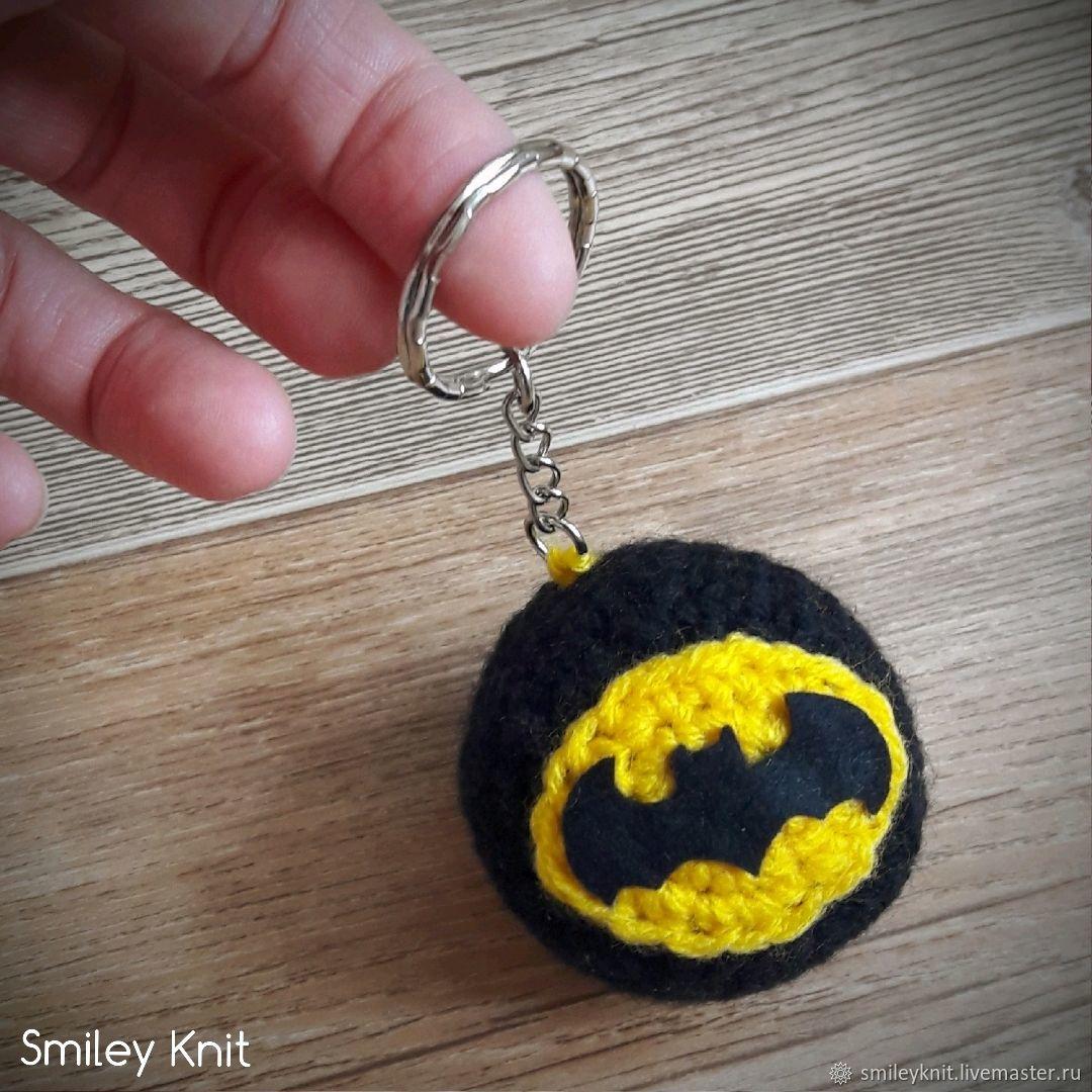 Супергеройский брелок Бэтмен , Дэдпул , Супермен вязаный