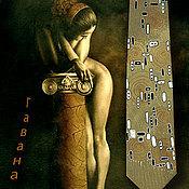 Аксессуары handmade. Livemaster - original item Tie Havana, original painting.. Handmade.
