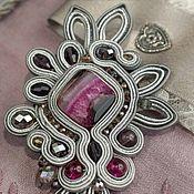 handmade. Livemaster - original item soutache brooch. Handmade.