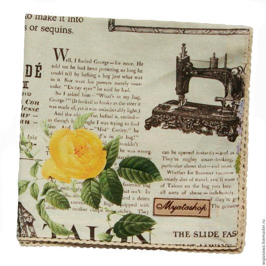 """Кухня ручной работы. Ярмарка Мастеров - ручная работа. Купить Текстильная салфетка """"Сепия Роуз"""". Handmade. Комбинированный, салфетка на стол"""