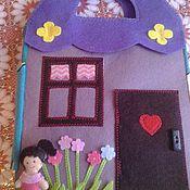 Куклы и игрушки ручной работы. Ярмарка Мастеров - ручная работа Дом для куклы и кукла Даша 8 страниц. Handmade.