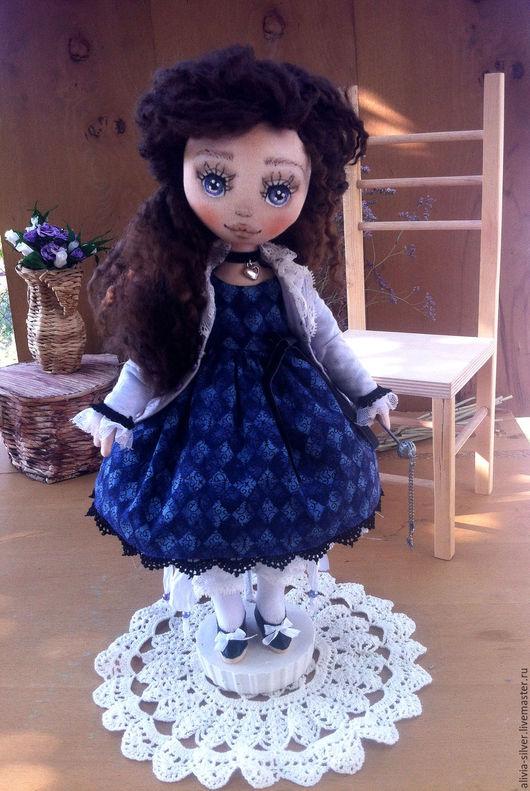 Коллекционные куклы ручной работы. Ярмарка Мастеров - ручная работа. Купить Бэль. Handmade. Фиолетовый, интерьер, подарок на новый год, хлопок